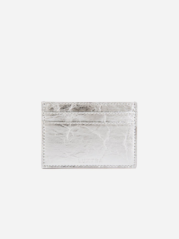 LUXTRA Piñatex Vegan Leather Card Holder | Silver