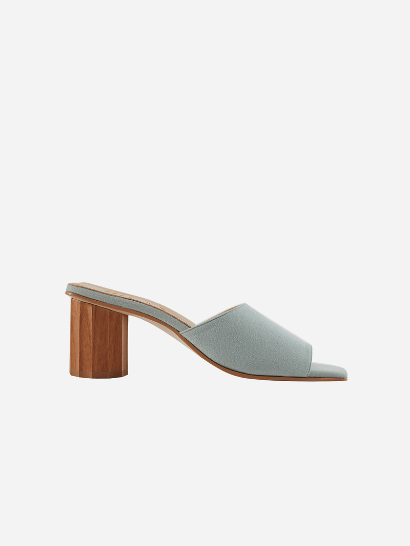 Mesa Octavia Recycled Vegan Suede Mule | Light Blue