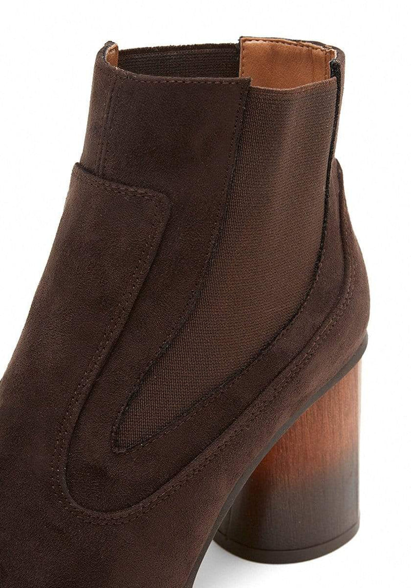 Mireia Playà Elisabet Recycled Polyester Vegan Suede Chelsea Boot | Brown