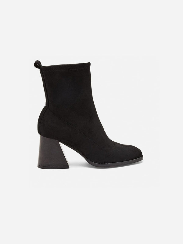 Mireia Playà Gabriela Vegan Suede Sock Ankle Boot | Black