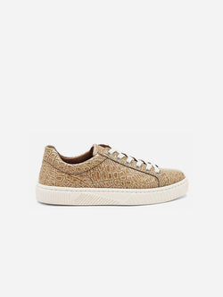 Mireia Playà Idris Vegan Patent Leather Trainer | Beige Croc