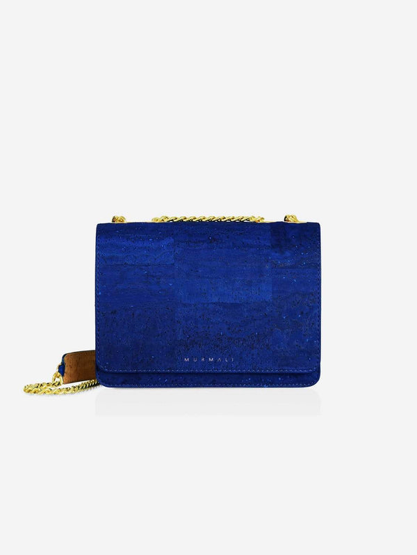 MURMALI Alpha Handcrafted Cork Vegan Crossbody Bag | Navy