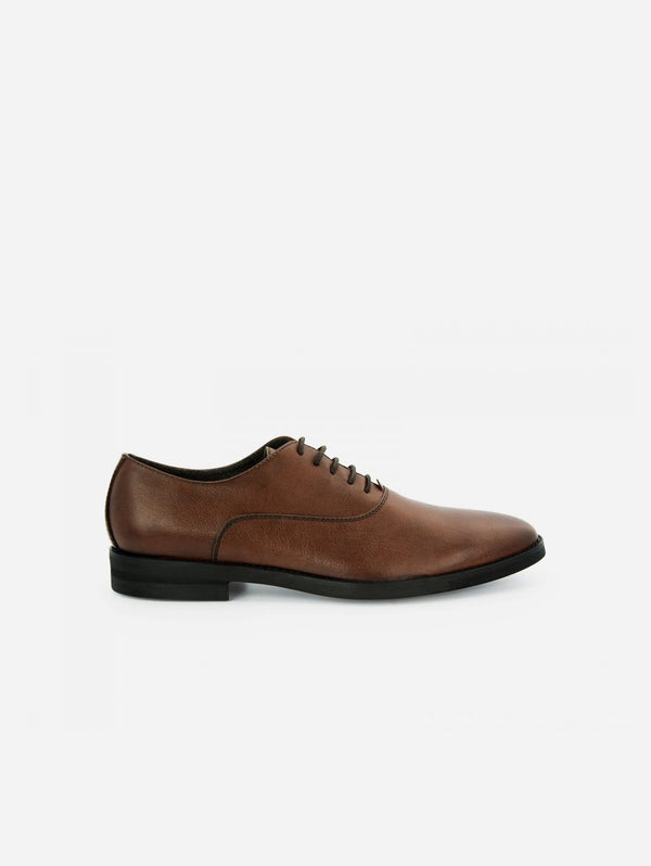 NOAH - Italian Vegan Shoes Damiano Vegan Nappa Leather Oxford | Cognac Brown