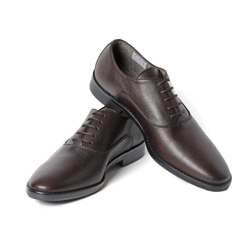 NOAH - Italian Vegan Shoes Damiano Vegan Nappa Leather Oxfords | Brown