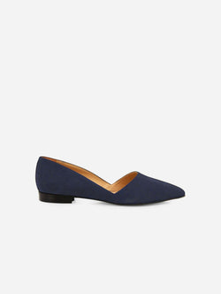 NOAH - Italian Vegan Shoes Stefania Vegan Suede Flat | Blue