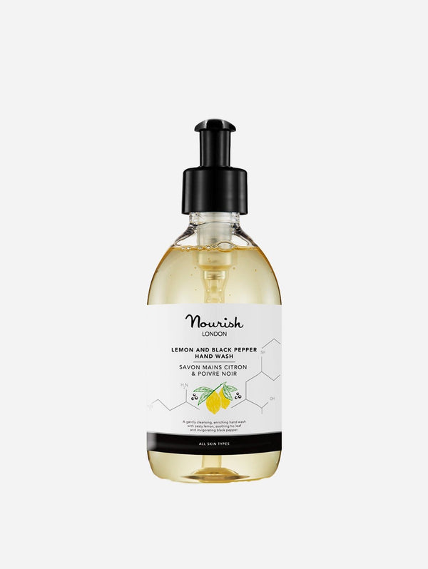 Nourish London Lemon & Black Pepper Hand Wash | Antibacterial Essential Oils 300ml 300 ml