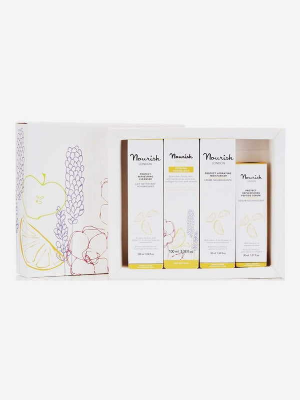 Nourish London Protect Vegan Facial Gift Set | Dry Skin