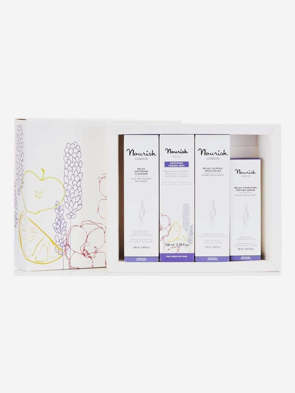 Nourish London Relax Vegan Facial Gift Set | Sensitive Skin