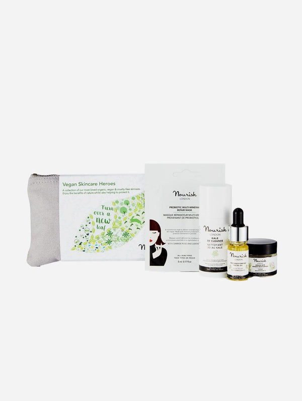 Nourish London Vegan Skincare Heroes Set