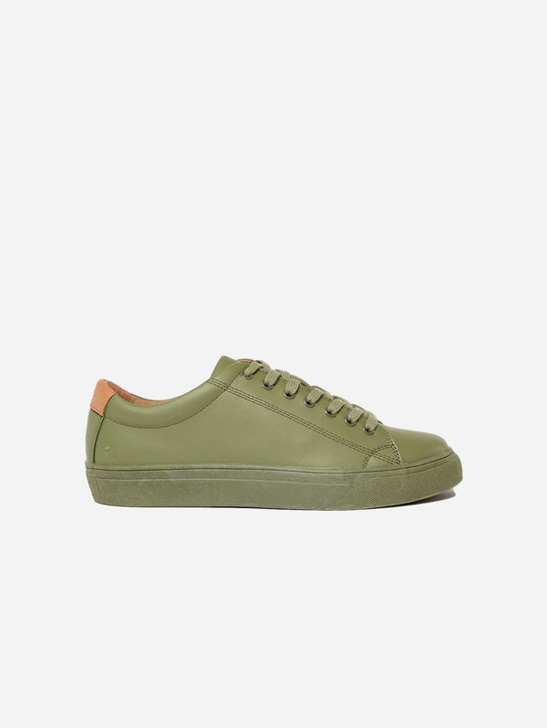 Ration.L R-Kind Unisex Vegan Leather Trainer | Titan Khaki