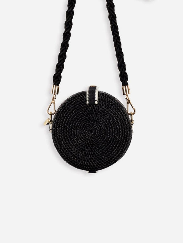 Alor Handwoven Atta Vegan Drum Bag | Black