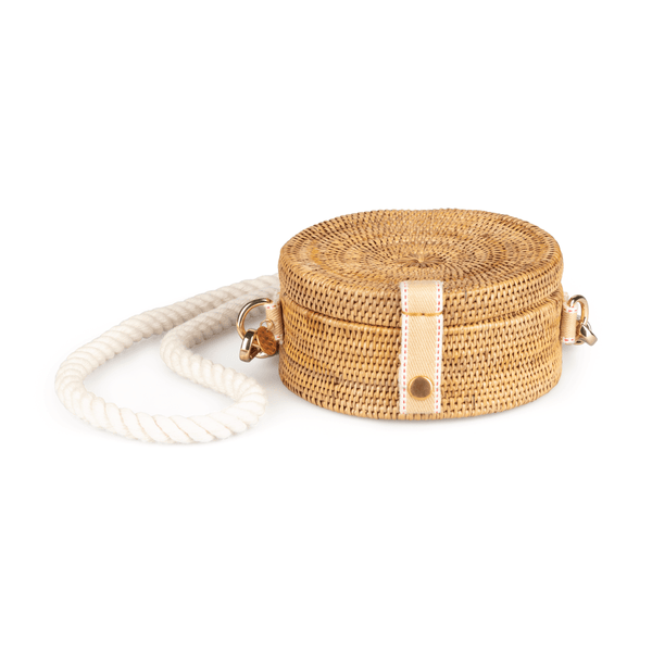 Stelar Alor Handwoven Atta Vegan Drum Bag | Natural