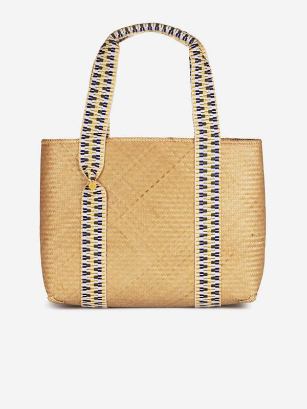 Stelar Large Mentawai Handwoven Vegan Bamboo Tote Bag | Natural