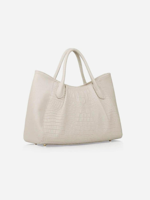 STORY 81 Georgia Textured Vegan Leather Tote Bag