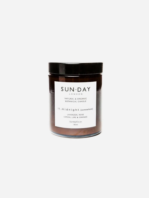 Sun.day of London Luxury Vegan Candle | Midnight (Somewhere) 180ml Midi - 180ml Candle