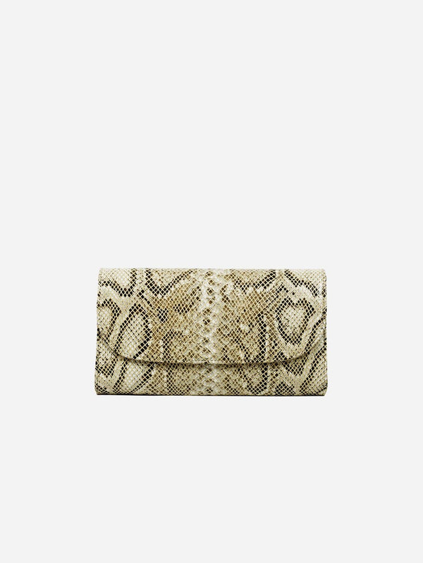 Svala Didi Clutch in Vegan Leather | Cream Python