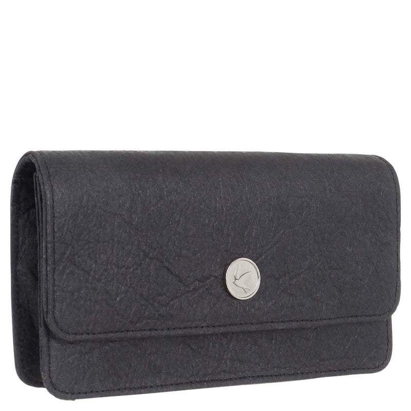 Svala Sara Chain Wallet Purse | Black Piñatex®