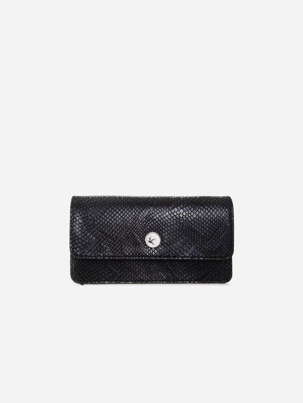 Svala Sara Vegan Leather Chain Wallet Purse | Black