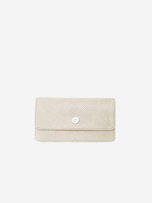 Svala Sara Vegan Leather Chain Wallet Purse | Cream