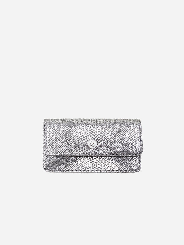 Svala Sara Vegan Leather Chain Wallet Purse | Silver