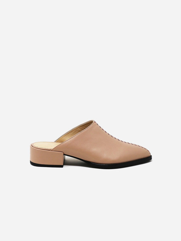 Sylven New York Cass Recycled Fiber Vegan Nappa Leather Slip-On Mule | Blush