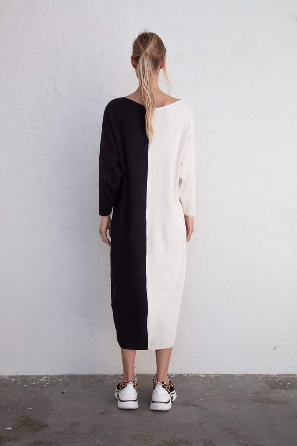 Taiyo Luna Recycled Cotton Rib Knit Dress | Half Moon