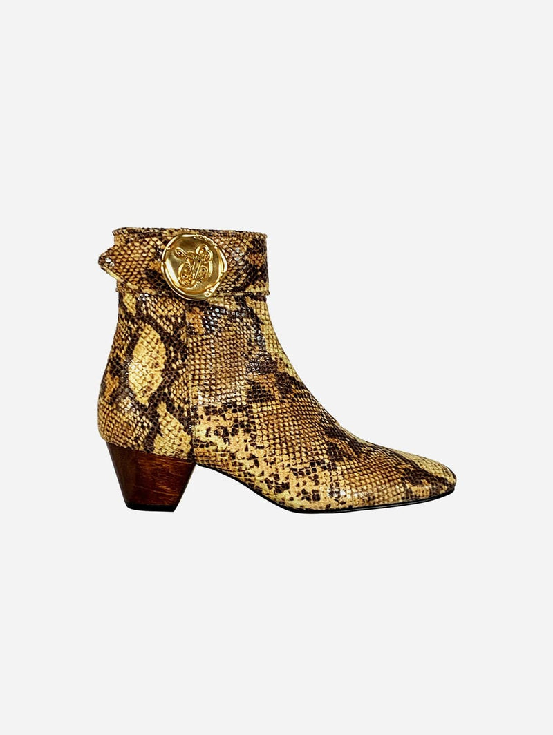 Taylor + Thomas Anita Vegan Leather Boots | Golden Python