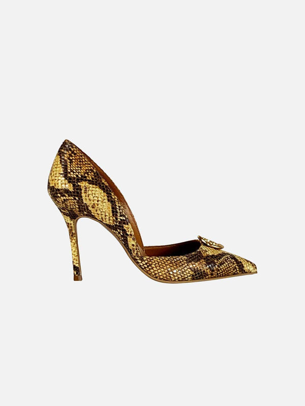 Taylor + Thomas Brigitte Vegan Leather Heel | Golden Python