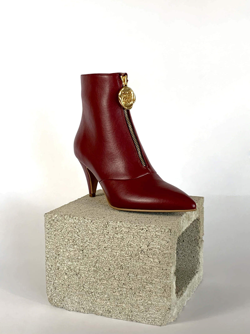 Taylor + Thomas Debbie Vegan Leather Boots | Bordeaux