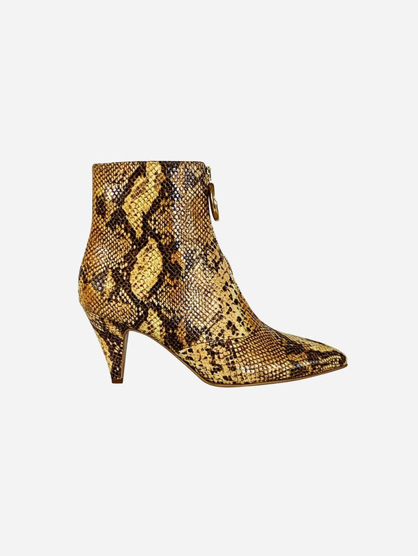 Taylor + Thomas Debbie Vegan Leather Boots | Golden Python
