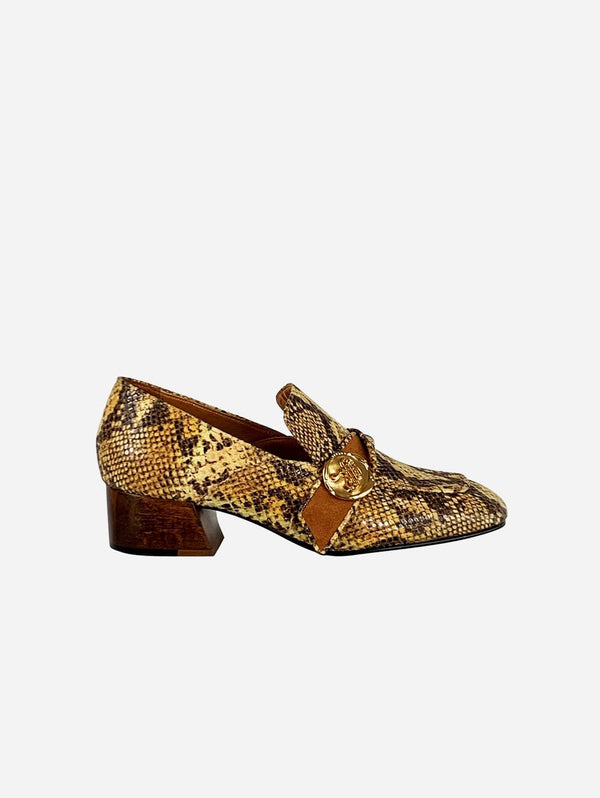 Taylor + Thomas Jane Vegan Leather Loafer | Golden Python