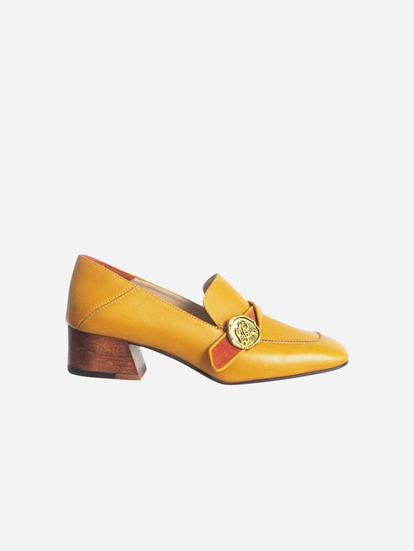 Taylor + Thomas Jane Vegan Leather Loafer | Mustard Yellow