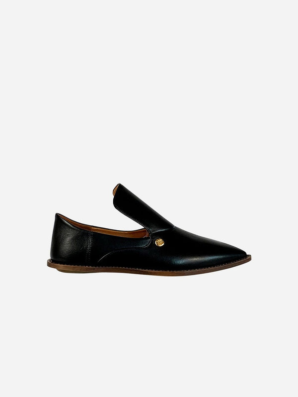 Taylor + Thomas Tally Vegan Leather Babouche Shoe | Black
