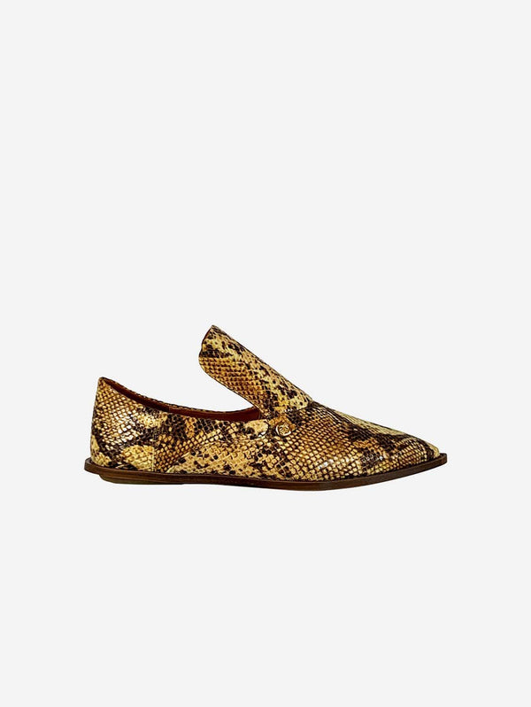 Taylor + Thomas Tally Vegan Leather Babouche Shoe | Golden Python