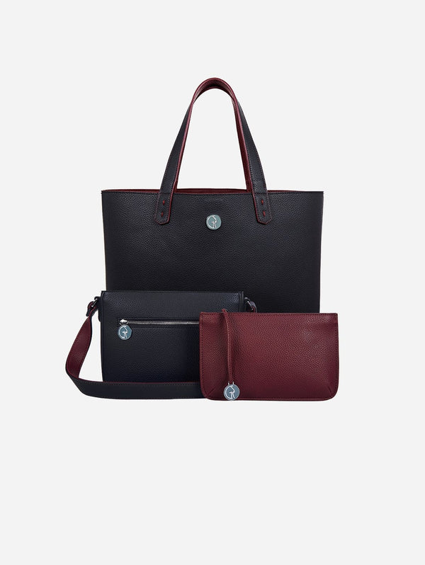 The Morphbag by GSK 3 Vegan Leather Bags in 1 | Blackberry & Currant
