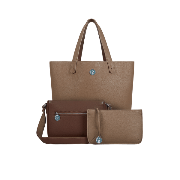 The Morphbag by GSK 3 Vegan Leather Bags in 1 | Chocolate & Pralines