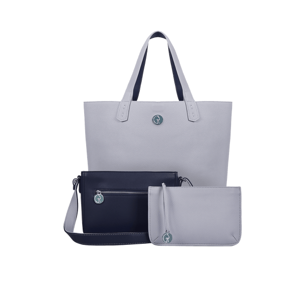 The Morphbag by GSK 3 Vegan Leather Bags in 1 | Deep Sea & Cloud