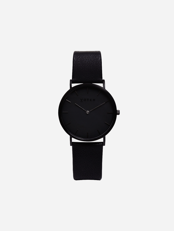 Votch Black & Black with Black Face Vegan Watch | Classic