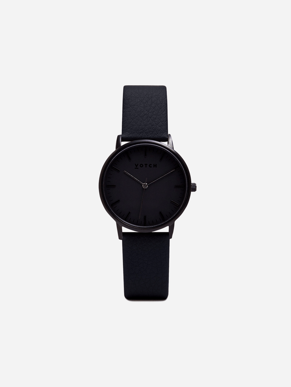 Votch Black & Black with Black Face Vegan Watch | Moment
