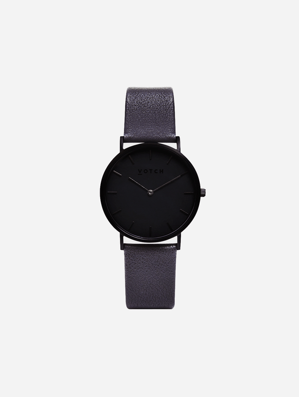 Votch Black & Dark Grey with Black Face Vegan Watch | Classic