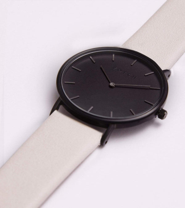 Votch Black & Light Grey with Black Face Vegan Watch | Classic