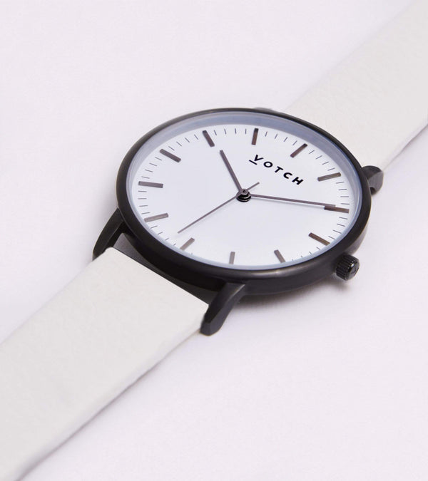 Votch Black & Off White Vegan Watch | Moment