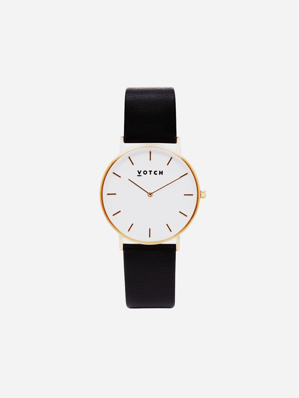 Votch Gold & Black Vegan Watch | Classic