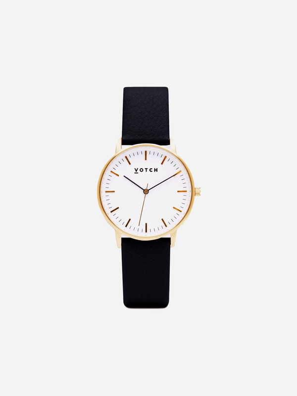 Votch Gold & Black Vegan Watch | Moment