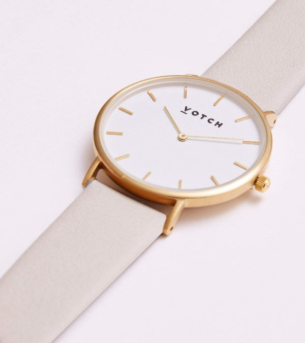 Votch Gold & Light Grey Vegan Watch | Classic