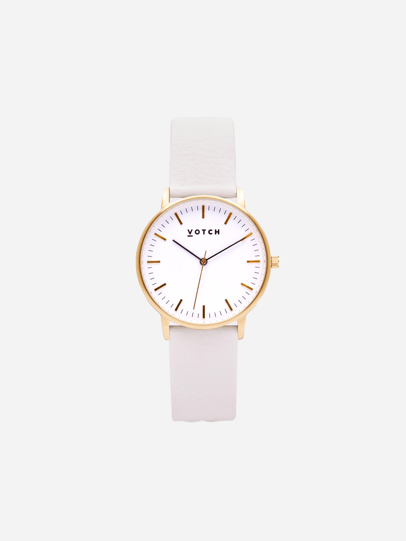 Votch Gold & Off White Vegan Watch | Moment