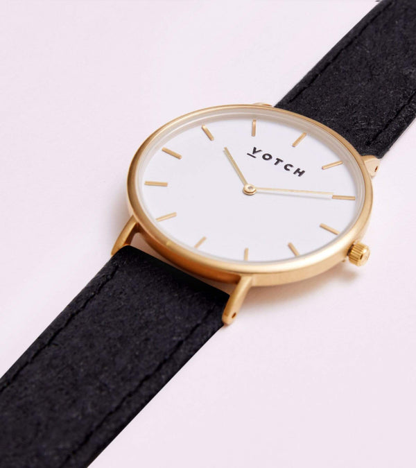 Votch Gold & Piñatex Vegan Watch | Classic