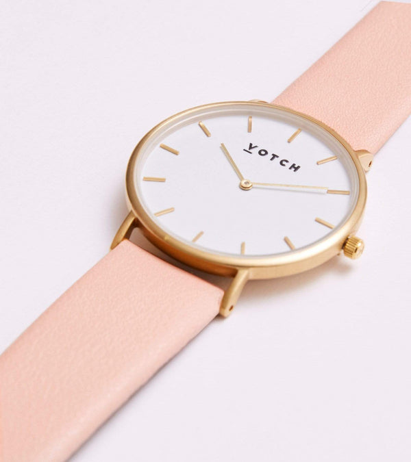 Votch Gold & Pink Vegan Watch | Classic