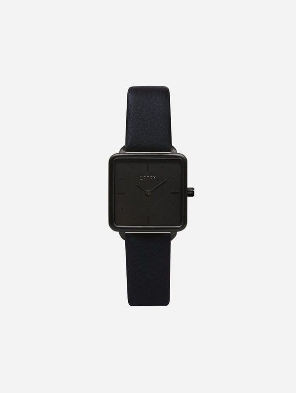 Votch Kindred All Black Dial Watch | Black Vegan Leather Strap