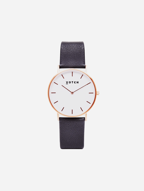 Votch Rose Gold & Dark Grey Vegan Watch | Classic